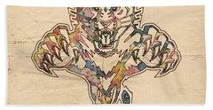 Florida Panthers Hockey Poster Hand Towel by Florian Rodarte