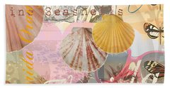 Florida Seashells Collage Bath Towel