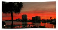 Bath Towel featuring the photograph Florida Sunset by Hanny Heim