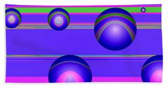 Hand Towel featuring the digital art Flotation Devices - Grape by Wendy J St Christopher