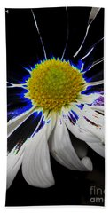 Art. White-black-yellow Flower 2c10  Bath Towel
