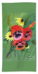 Flower Bunch Hand Towel by Francine Heykoop