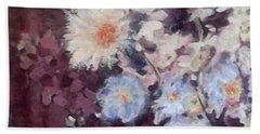 Hand Towel featuring the painting Flower  Burst by Richard James Digance