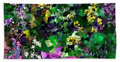 Flower Garden Bath Towel by David Lane