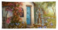 Flower Garden Paintings Bath Towel