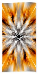 Bath Towel featuring the drawing Flower Grid Sixty-three by Derek Gedney