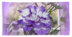 Hand Towel featuring the photograph Flower In A Haze by Linda Prewer