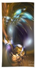 Flower In Your Dreams - Abstract Art Bath Towel