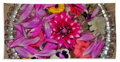 Flower Offerings - Jabalpur India Bath Towel