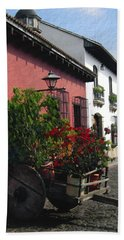 Flower Wagon Antigua Guatemala Hand Towel