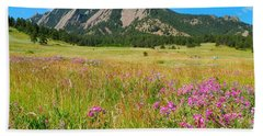 The Flatirons Colorado Hand Towel by Dan Miller