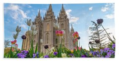 Flowers At Temple Square Bath Towel