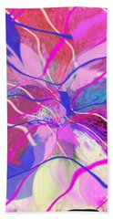 Original Contemporary Abstract Art Flowers From Heaven Hand Towel by RjFxx at beautifullart com