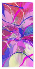 Original Contemporary Abstract Art Flowers From Heaven Bath Towel