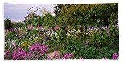 Flowers In A Garden, Foundation Claude Bath Towel