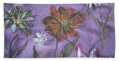 Flowers On Silk Hand Towel