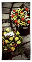 Flowers On The Market In France Bath Towel