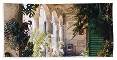 Flowery Majorquin  Patio In Valdemosa Bath Towel