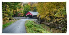 Flume Gorge Covered Bridge Hand Towel