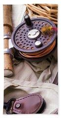 Fly Fishing Still Life Hand Towel by Edward Fielding