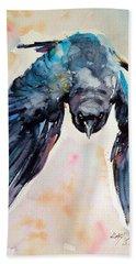 Flying Crow Bath Towel