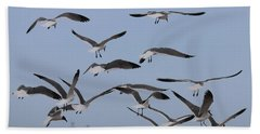 Flying Gulls  Bath Towel