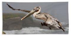 Flying Over La Jolla Bath Towel by Bryan Keil