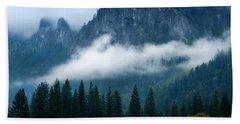 Fog Bank In Yosemite Valley, Yosemite Hand Towel by Panoramic Images