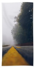 Fog On Highway Hand Towel
