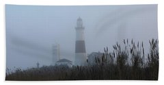 Foggy Montauk Lighthouse Hand Towel