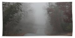Foggy Morning In The Village Hand Towel