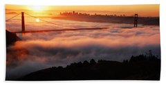Hand Towel featuring the photograph Foggy Morning San Francisco by James Kirkikis