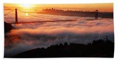 Foggy Morning San Francisco Hand Towel by James Kirkikis