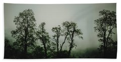 Foggy Mountain Morning At The Meadows Of Dan Hand Towel by John Haldane