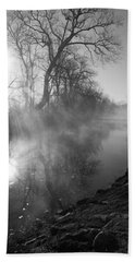Foggy River Morning Sunrise Bath Towel