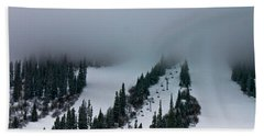 Bath Towel featuring the photograph Foggy Ski Resort by Eti Reid