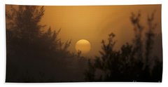 Foggy Sunrise Hand Towel by Meg Rousher