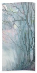 Foggy Trees Bath Towel