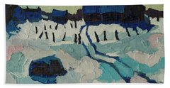 Foley Farm In Winter Hand Towel by Phil Chadwick