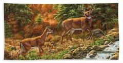 Whitetail Deer - Follow Me Bath Towel