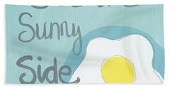 Food- Kitchen Art- Eggs- Sunny Side Up Bath Towel