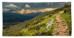 Foot Path Into The French Alps Hand Towel
