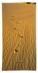 Footprints, Death Valley National Park Hand Towel