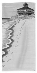 Bath Towel featuring the digital art Footprints On Boca Beach by Carol Jacobs