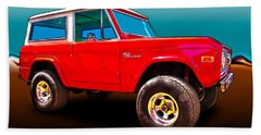 Ford Bronco Classic From Vivachas Hot Rod Art Bath Towel