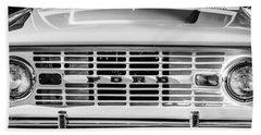 Ford Bronco Grille Emblem -0014bw Hand Towel