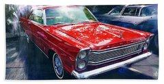 1965 Ford Galaxy 500xl In Red Bath Towel