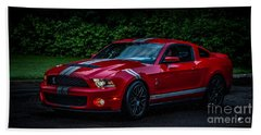 Ford Mustang Gt 500 Cobra Hand Towel