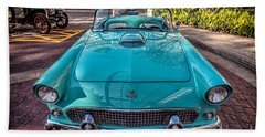 Bath Towel featuring the photograph Ford Thunderbird  by Adrian Evans