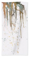 Forest On A Cliff Hand Towel by Rebecca Davis